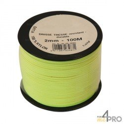 Cordeau nylon fluorescent Ø2mm - 100m