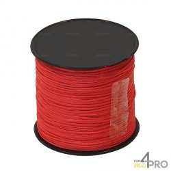 Cordeau nylon rouge Ø1mm - 100 m