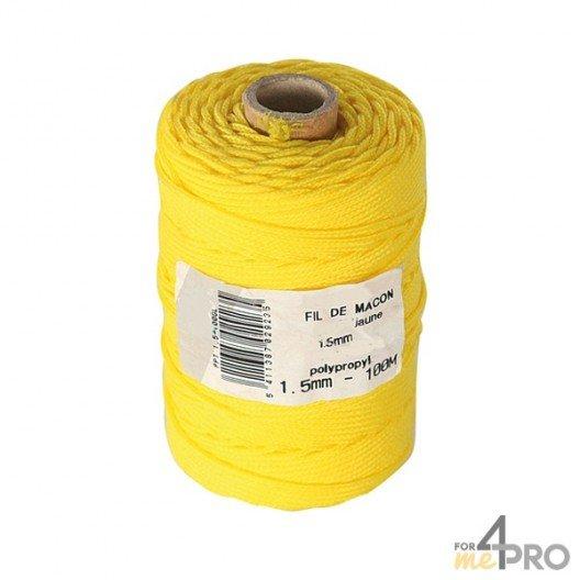 Cordeau polypropylène jaune Ø1,5mm