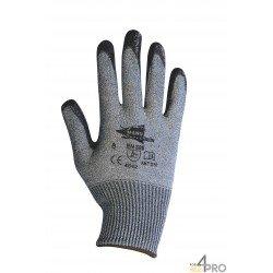 Gants anti-coupure en nitrile noir - norme EN 388 4542