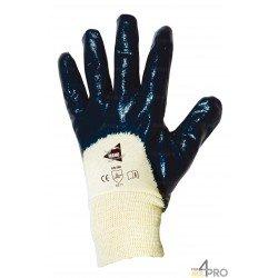 Gants de protection pour manutention lourde - nitrile lourd imperméable dos 3/4 - norme EN 388 4211