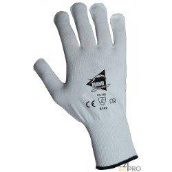 Gants de protection pour manutention fine en polyamide blanc avec picots PVC bleus - norme EN 388 314x