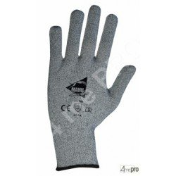 Gants anti-coupure de protection - picots PVC noirs et support composite gris - norme EN 388