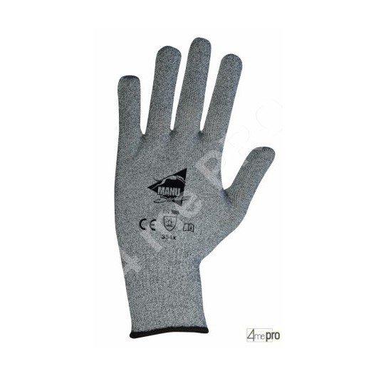 Gants anti-coupure de protection - picots PVC noirs et support composite gris - norme EN 388