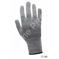 Gants anti-coupure de protection ambidextres - support composite gris - norme EN 388