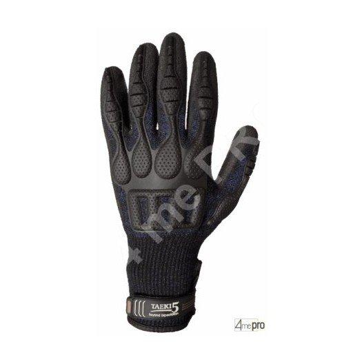Gants anti-coupure enduction polyuréthane anthracite - renforts articulations - norme EN 388