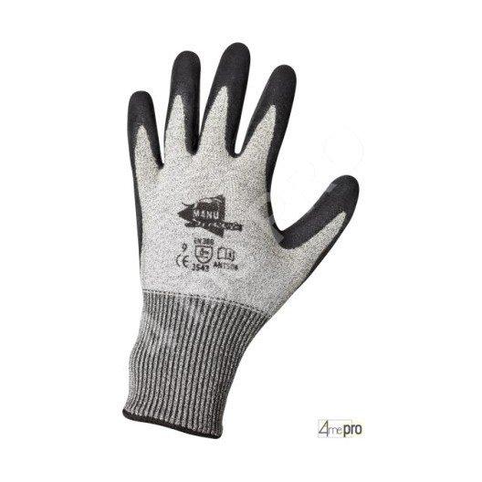 Gants anti-coupure - enduction en latex noir et support composite gris - norme EN 388