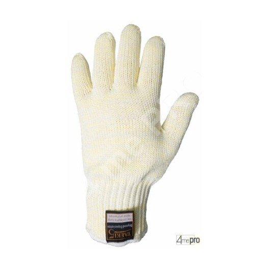 Gants anti-coupure ambidextres doublés coton - haute résistance chaleur - normes EN 388/EN 407