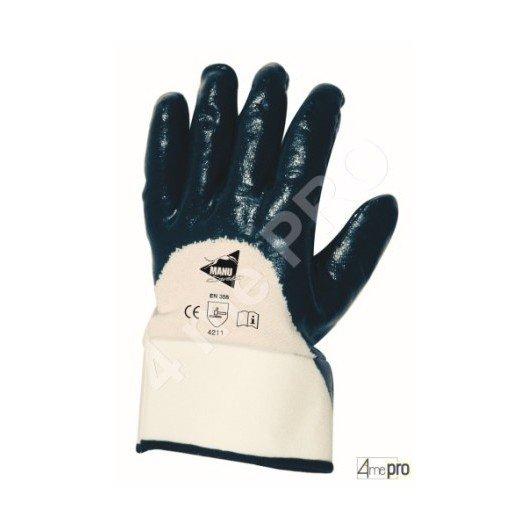 Gants de manutention lourde - nitrile lourd imperméable dos 3/4 - norme EN 388 4211