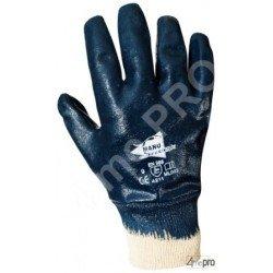 Gants de manutention lourde - nitrile lourd imperméable main entière - poignet tricot - norme EN 388 4211