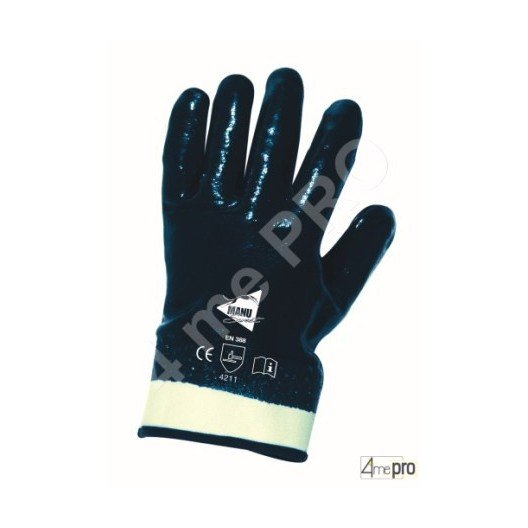 Gants de manutention lourde - nitrile lourd imperméable main entière - norme EN 388 4211