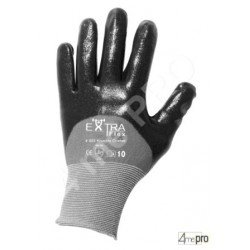 Gants de manutention - nitrile HCT noir sur support nylon - norme EN 388 3121