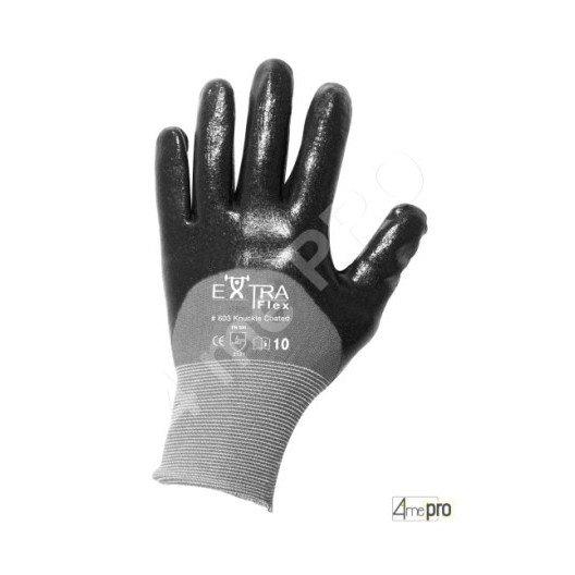 Gants de manutention - nitrile HCT noir sur support nylon - norme EN 388 3121