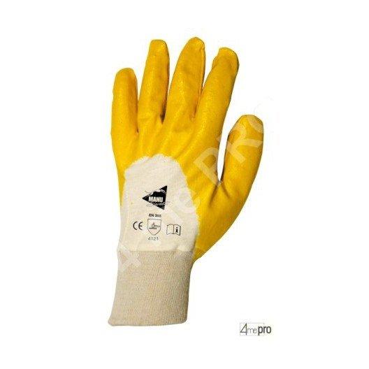 Gants de manutention - nitrile jaune sur support interlock - norme EN 388 4121