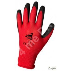 Gants de manutention - latex noir sur support polyester rouge - norme EN 388 2131