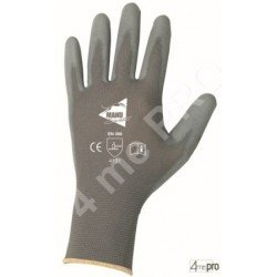 Gants de manutention fine - polyuréthane gris sur support nylon gris - norme EN 388 4131
