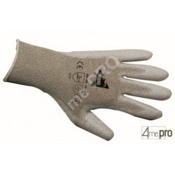 Gants de manutention fine - polyuréthane antistatique sur support nylon - normes EN 388 4131 / EN 1149-1