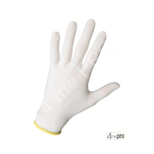 Gants de manutention fine ambidextre - sans enduction - support nylon extra fin blanc
