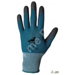 Gants de manutention fine - polyuréthane noir sur support nylon bleu - norme EN 388 4131