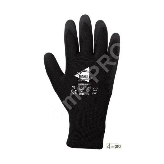 Gants de protection thermique intérieur molleton - latex sur polyester - normes EN 388/EN 511