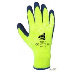 Gants de protection thermique intérieur molleton - latex sur polycoton fluo - normes EN 388/EN 511