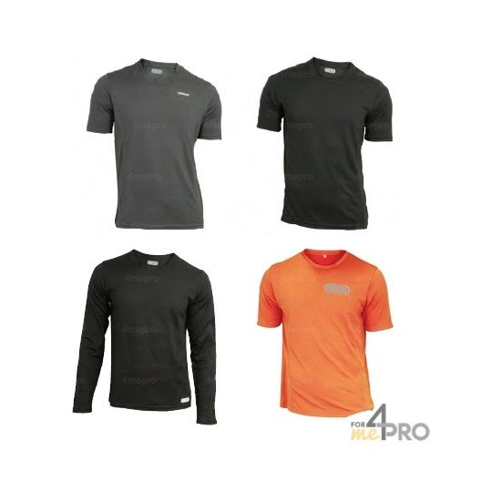 T-shirt respirant en polyester CoolDry avec manches courtes/longues - Taille S à XXXL