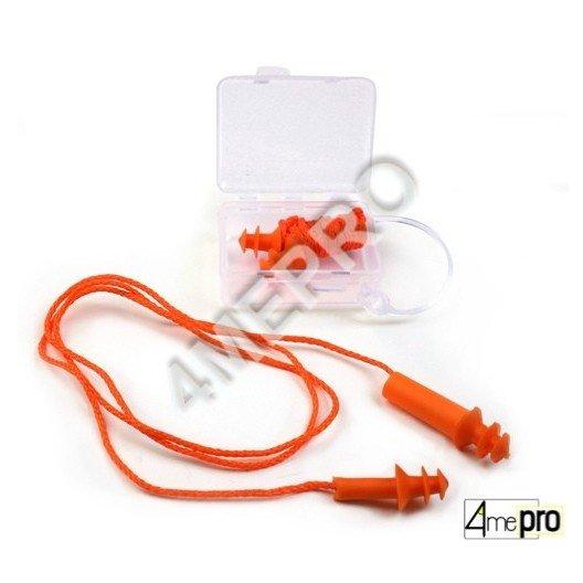 Bouchons d'oreilles anti-bruit avec cordon et boîte de rangement - SNR 25 dB