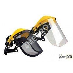 Protecteur facial avec visière de protection - norme EN 1731 F/EN 166 3B
