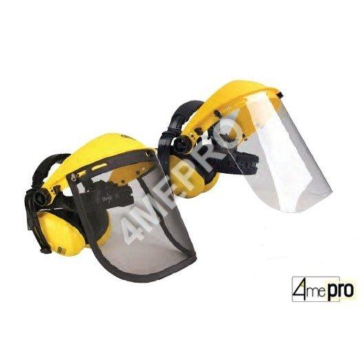 Visière de protection avec protège-oreilles - Normes EN 352-1/EN 166 3B/EN 1731 F