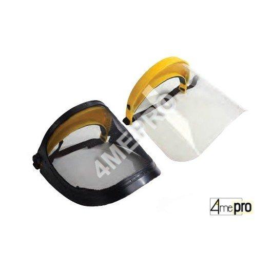 Visière de protection en treillis d'acier ou polycarbonate - norme EN1731S/EN1661S