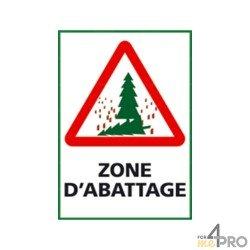 Panneau de signalisation rectangulaire Zone d'abattage