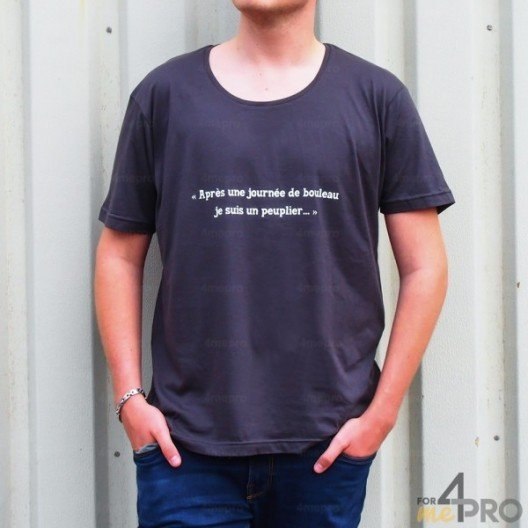 """T-shirt homme """"Après une journée de bouleau je suis un peuplier"""""""