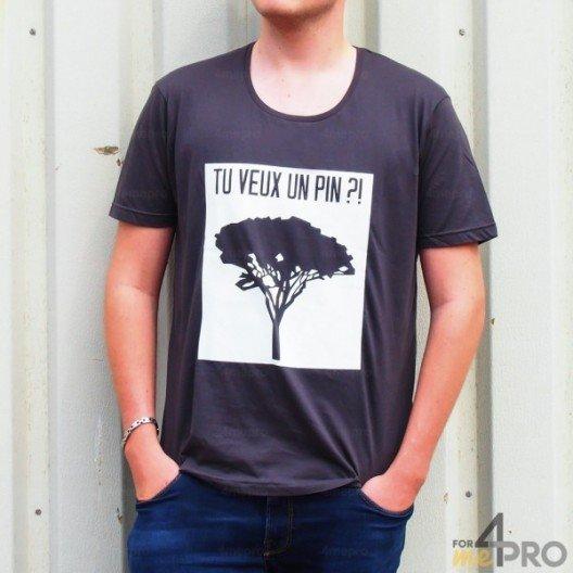 """T-shirt homme """"Tu veux un pin?!"""""""
