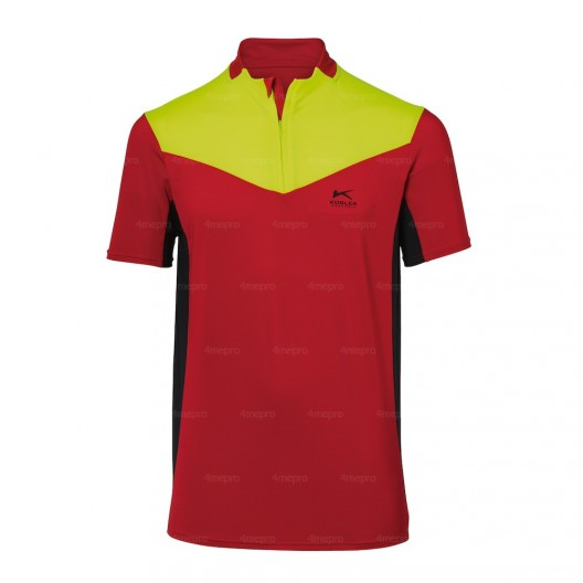 Tee-shirt forest rouge et jaune