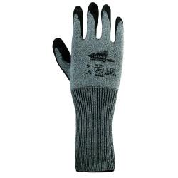 Gants anti-coupure Niveau 5 en polyuréthane - manchette 15 cm - norme EN 388 4542