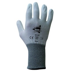 Gants anti-coupure  de protection - PU blanc sur support composite blanc - norme EN 388 4542