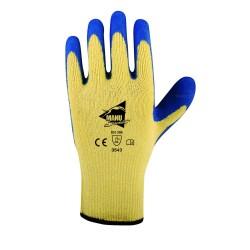Gants anti-coupure de protection en latex bleu - top adhérence - norme EN 388