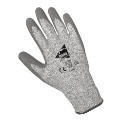 Gants anti-coupure de protection - enduction PU gris et support HPPE gris - norme EN 388 4543