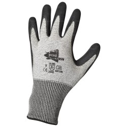 Gants anti-coupure - enduction en latex noir et support composite gris - norme EN 388