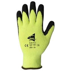 Gants anti-coupure et thermiques - enduction latex noir et intérieur molleton - normes EN 388 / EN 511