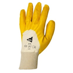 Gants de manutention - nitrile jaune sur support interlock - norme EN 388 4121