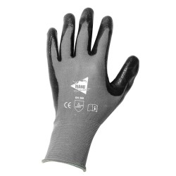 Gants de manutention - nitrile gris sur support nylon noir - norme EN 388 3121