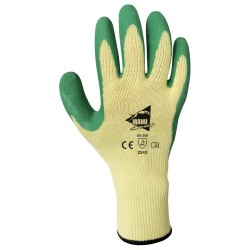 Gants de manutention - latex vert sur support polycoton jaune - norme EN 388 2243