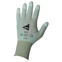 Gants de manutention fine - polyuréthane blanc sur support nylon blanc - bouts enduits - norme EN 388 013x