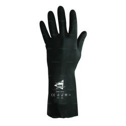 Gants de protection chimique 32cm - néoprène flocké coton - normes EN 388/EN 374