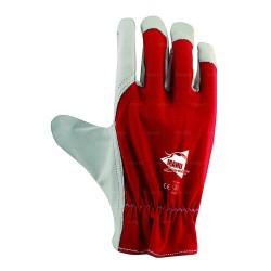 Gants de protection en cuir de chèvre et dos coton avec élastique de serrage - norme EN 388