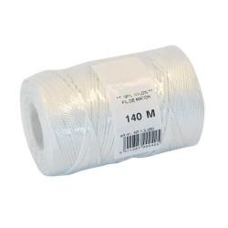 Cordeau nylon blanc Ø1.5mm - 140m