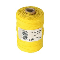 Cordeau polypropylène jaune Ø1,5mm - 100m