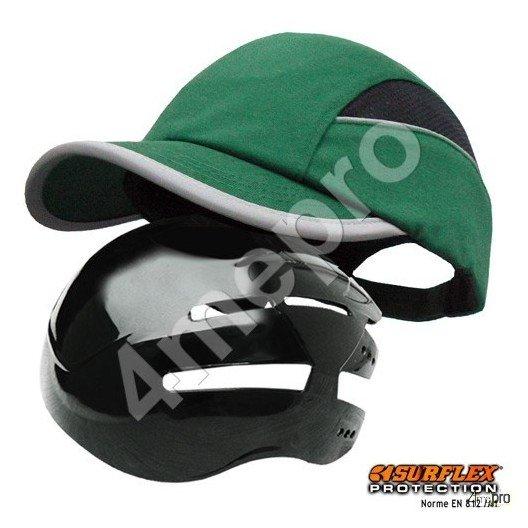 Casquette de protection Toutes saisons vert NF EN812 A1