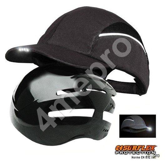 Casquette de protection Led noir NF EN812 A1